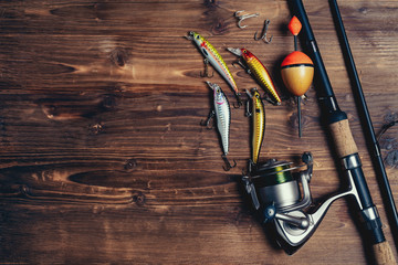 Fishing tackle background