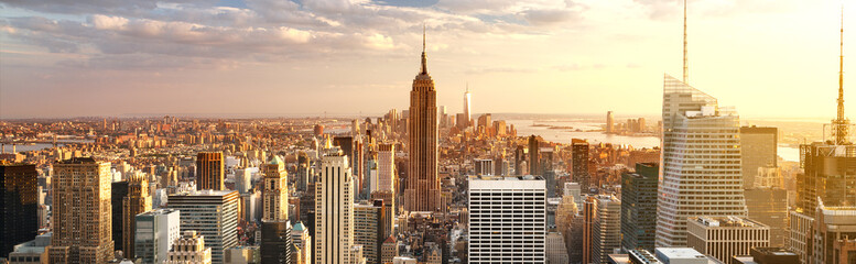 Foto auf Leinwand New York New York City skyline
