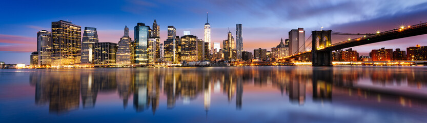 Canvas Prints New York New York City lights
