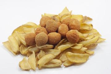 fritto misto fast food patate e olive ascolane