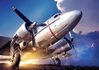 historical aircraft against a cloudy sky