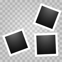 Square realistic polaroid