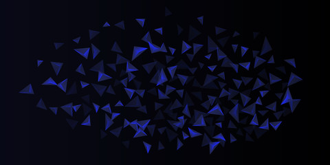 Triangle background. Abstract composition of triangular crystals.