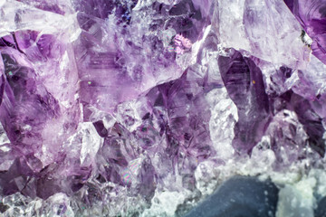 Abstract background texture of natural crystal amethyst