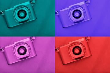 appareil photo quatre couleurs