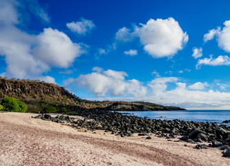 Landscape of western coast, San Cristobal or Chatham Island, Galapagos, Ecuador