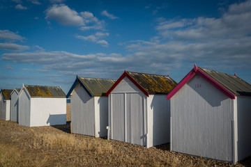 Beach huts, Goring-by-Sea, West Sussex, England, UK