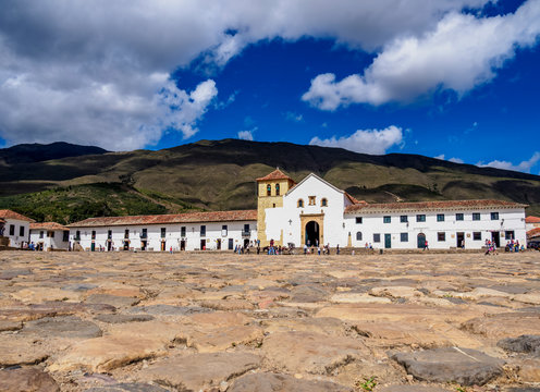 Our Lady of the Rosary Church, Plaza Mayor, Villa de Leyva, Boyaca Department, Colombia
