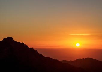 Sunset over Wadi Araba, Petra, Ma'an Governorate, Jordan