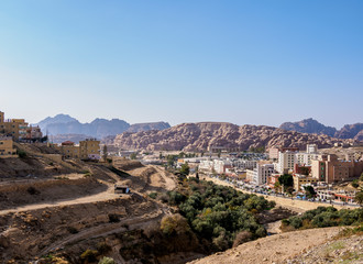Wadi Musa, elevated view, Ma'an Governorate, Jordan