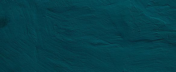 Grunge Dark Blue Turquoise Stucco Wall Background