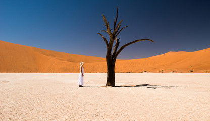Woman at Deadvlei, Namibia