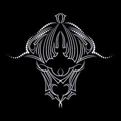 Buffalo - black and white logo  design. vector print,