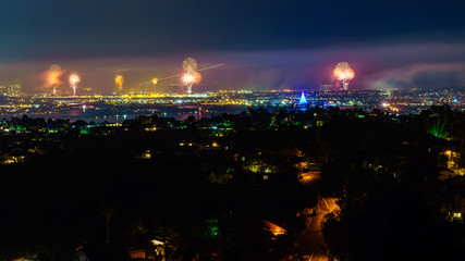 landscape photography of fireworks show display