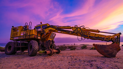 yellow heavy equipment