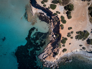 aerial photography of islet