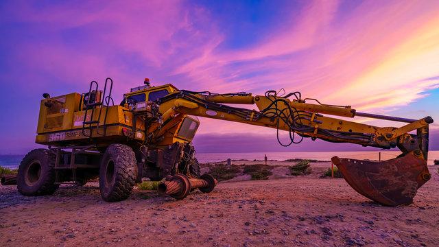 yellow heavy equipment