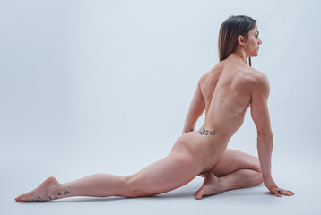 ritratto di bella razza muscolosa