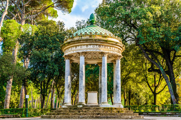 Deurstickers Rome Temple of Diana on the grounds of the Villa Borghese park in Rome, Italy