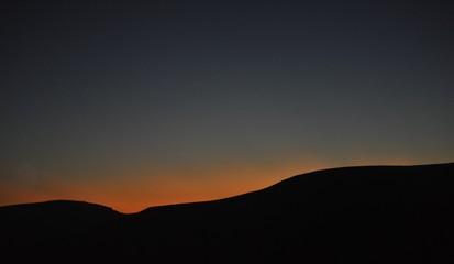 Sun kissed mountains