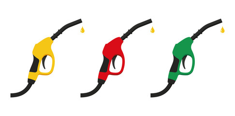 Fuel pump icon in flat style. Vector