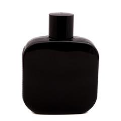 Black bottle on white