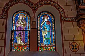 Église, Village d'Eguisheim, Alsace, Haut-Rhin, Grand Est, France