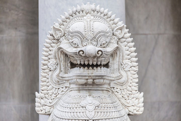 Singha Statue at the Marble Temple