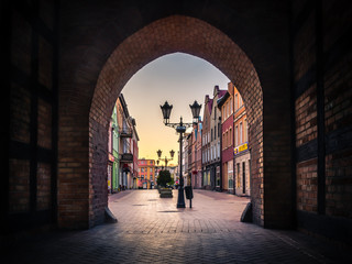 View from Czluchowska gate in Chojnice, Poland