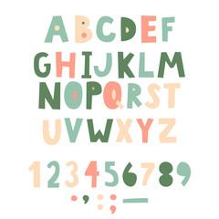 Bold handwritten childish font. Simple letters for decoration. Kids design.