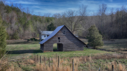 """The Old Black Barn"" late 17th early 18th century victorian barn still in use ZDS Americana Landscapes Collection"