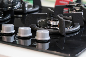 image of Gas stove close up