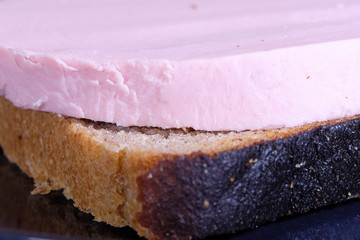 image of sausage sandwich close-up