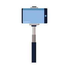 smartphone in selfie stick