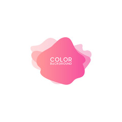 Abstract modern graphic design element. Colorful gradient with liquid shapes
