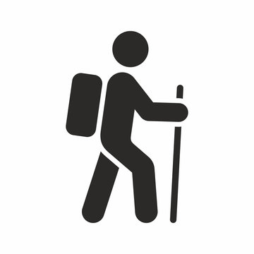 Hiking vector icon