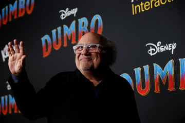 "Cast member Danny DeVito waves at the premiere for the movie ""Dumbo"" in Los Angeles"