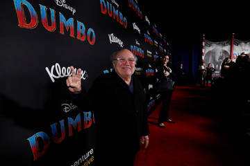 "Cast member Danny DeVito poses at the premiere for the movie ""Dumbo"" in Los Angeles"
