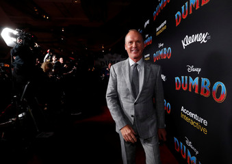 "Cast member Michael Keaton poses at the premiere for the movie ""Dumbo"" in Los Angeles"