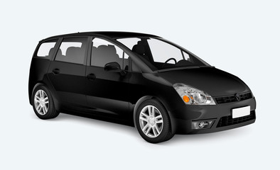 Black minivan car