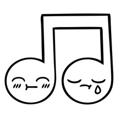 line drawing cartoon musical note