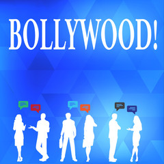 Conceptual hand writing showing Bollywood. Concept meaning Hollywood Movie Film Entertainment Cinema
