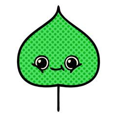 comic book style cartoon expressional leaf