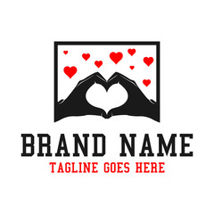 the second hand logo becomes love