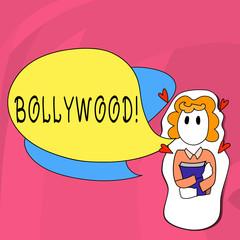 Word writing text Bollywood. Business photo showcasing Hollywood Movie Film Entertainment Cinema