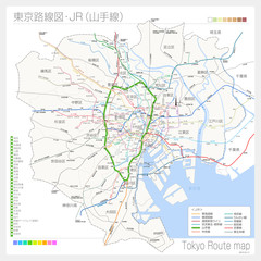 東京の路線図・JR(山手線)