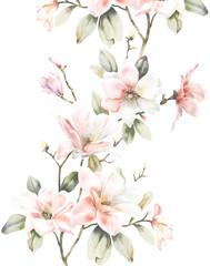 Elegant watercolor  Magnolia
