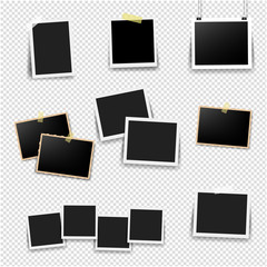 Photo Frame Big Set With Transparent Background