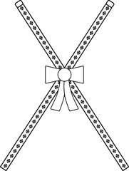 Masonic symbol of Director of Ceremonies, Craft Lodge Officers Collar Jewel