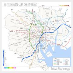 東京の路線図・JR(横須賀線)